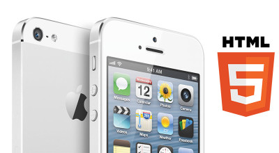iPhone with HTML5 logo