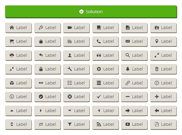 Image of buttons with icons