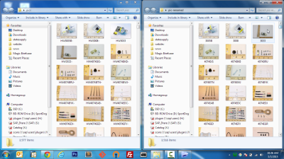 Screenshot of before/after files were batch renamed in Windows