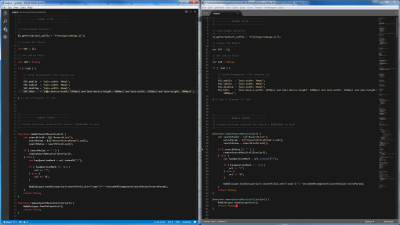 Screenshot of the same color theme in Visual Studio Code and Sublime Text
