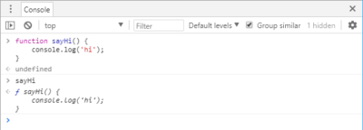 Screenshot of a value referencing a function in Chrome Dev Tools